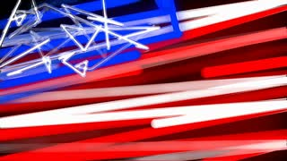 Abstract Scribble USA Flag Background Loop