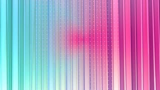 Abstract simple blue pink low poly 3D curtains and flying white crystals as futuristic environment. Soft geometric low poly background of pure blue pink polygons. 4K Fullhd seamless loop background.