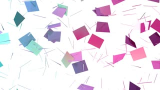 Abstract simple blue pink low poly 3D split surface as bright backdrop. Soft geometric low poly motion background of shifting pure blue pink polygons. 4K Fullhd seamless loop background