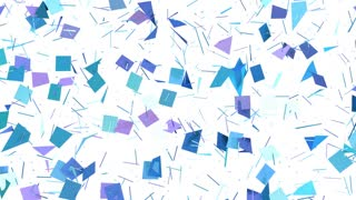 Abstract simple blue violet low poly 3D split surface as beautiful background. Soft geometric low poly motion background with pure blue violet polygons. 4K Fullhd seamless loop background