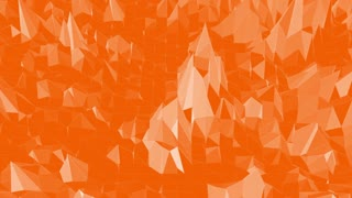 Abstract transforming orange low poly surface as polygonal mosaic background with vertex, spikes in cartoon modern 3D design.