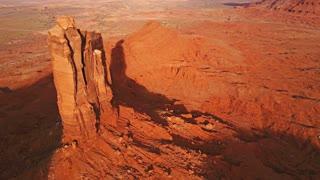 Aerial Butte Landscape
