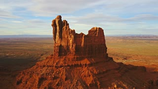 Aerial Footage Of A Butte In Arizona
