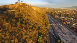 Aerial Los Angeles Freeway