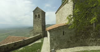 Aerial shot of the landscape from Nekresi Monastery. Kakheti, Georgia