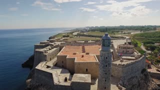 Cuba Aerial View Morro Castle Havana City