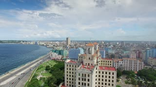 Cuba Aerial View Of Hotel Nacional in Havana