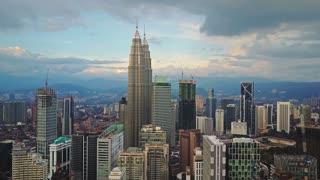 Aerial view of kuala lumpur city timelapse