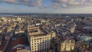Cuban Aerial View Urban Landscape Old Havana