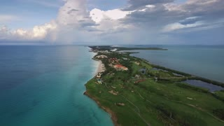 Aerial View Varadero Cuba Caribbean Sea Beaches From Sky