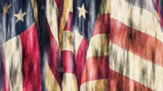 American Flags Patriotic Background