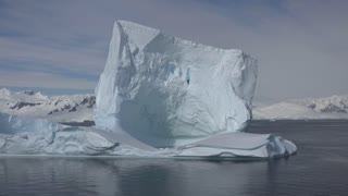 Antarctica Big Iceberg Floats By