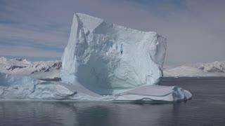 Antarctica Big Iceberg Floats By