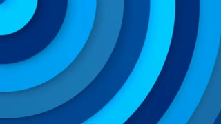 Blue concentric circles 3D animation seamless loop 4k UHD (3840x2160)
