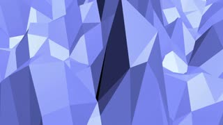 Blue low poly plastic surface as landscape or stylish 3D cartoon. Blue polygonal geometric plastic environment or pulsating background in cartoon low poly popular modern stylish 3D design.