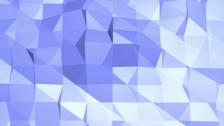Blue metalic low poly waving surface as cartoon background. Blue polygonal geometric vibrating environment or pulsating background in cartoon low poly popular modern stylish 3D design. .