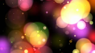Bokeh Lights Effect Christmas 4K Background Animation
