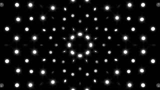 Bw Abstract concert stage lights animation