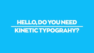 Clean Kinetic Typography