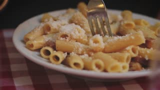 Close Up Shot of Pasta on a Plate