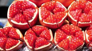 Closeup Of Red Ripe Juicy Pomegranate