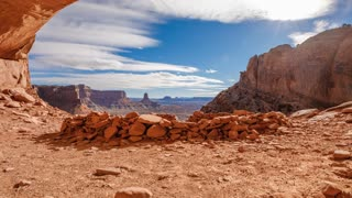 Cloud Time Lapse Canyons Utah Landscape Flase Kiva