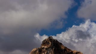 Clouds In Sky With Rock Motion Timelapse