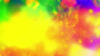 Color pop cosmic animated abstract CG particle clouds looping seamless background