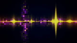 Colorful audio waveform equalizer techno loopable background 4k (4096x2304)