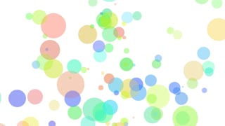 Colorful bubbles floating up