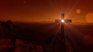Cross And Light Easter Resurrection Background