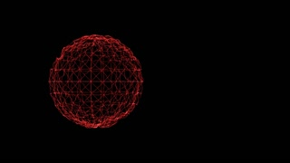Dark background with animated sphere
