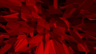 Dark red low poly waving surface as art background. Dark red polygonal geometric vibrating environment or pulsating background in cartoon low poly popular modern stylish 3D design.