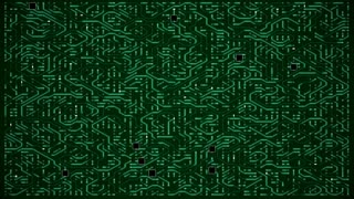 Dense Green Circuit Animation Motherboard Loop