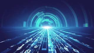 Digital Technology Background Binary Tunnel Effect