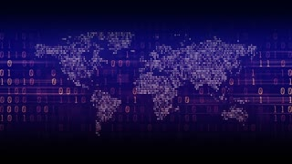 Digital World Background Binary Concept Technology Blue