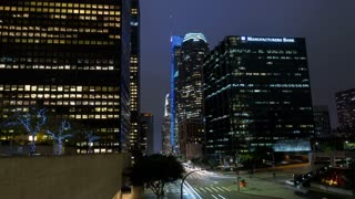 Downtown Los Angeles at Night Hyperlapse