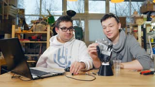 Engineers testing the robotic bionic arm