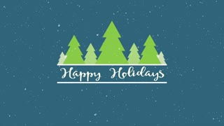 Evergreen Happy Holidays Motion Background