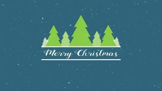 Evergreen Merry Christmas Title Background