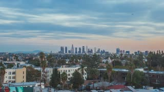 Fast Zoom Day to Night Time Lapse of Los Angeles, California