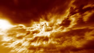 Fire Clouds Nature Background