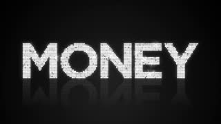 Glamorous MONEY type background looping animation