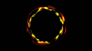 Glowing spiral ring. Abstract digital background. Seamless loop