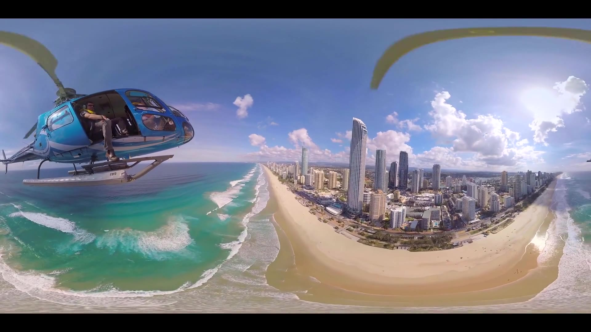 Gold Coast Beach 360 VR Aerial