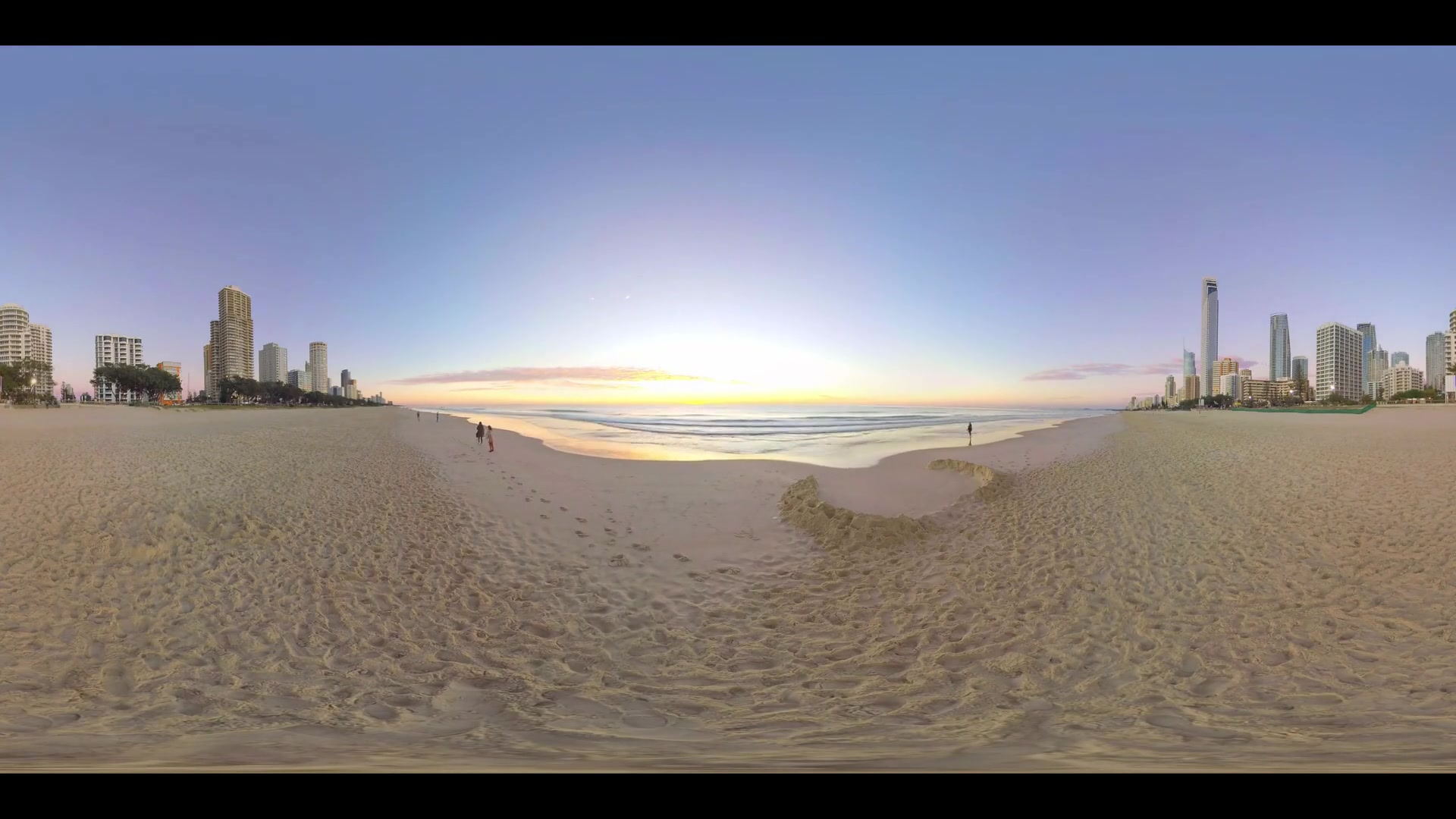 Gold Coast Beach Sunset 360 VR Timelapse