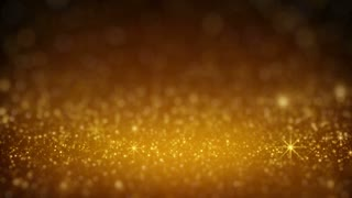 Gold glitter in light rays rendered with DOF seamless loop 4k (4096x2304)