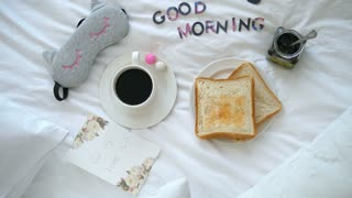 Good Morning With Breakfast In Bed