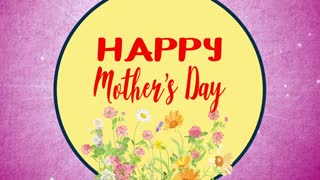 Happy Mothers Day Floral Pink Background