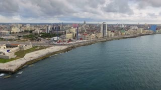Cuba Aerial Havana City Skyline Caribbean Sea From Sky Cuban Travel